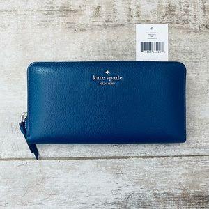 Kate Spade RIVER BLUE large continental Sam wallet